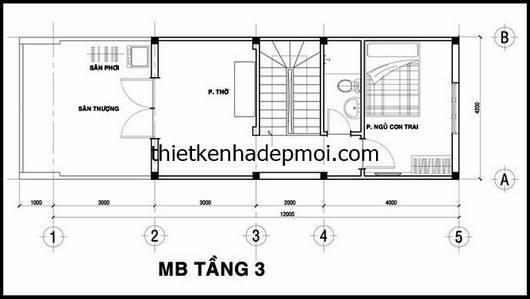 mat bang lau 2 nha ong 3 tang 4x12
