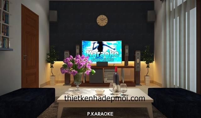 thiet ke noi that nha biet thu 3 tang hien dai mai thai phong karaoke