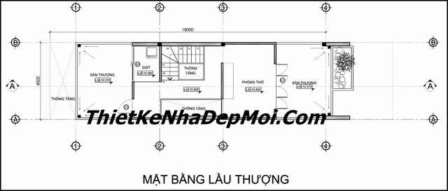 mat bang san thuong nha pho dep mat tien 4,5m