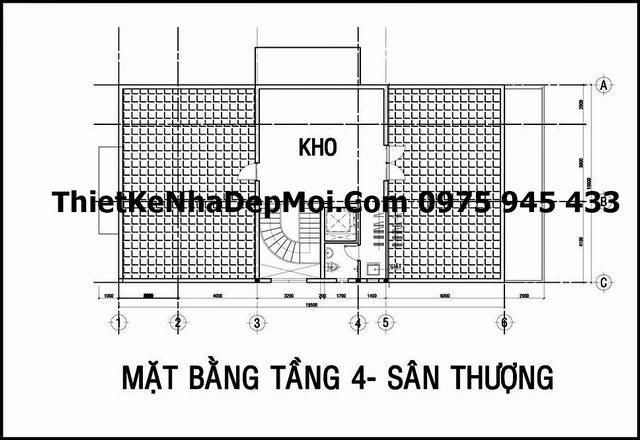 mau biet thu 3 tang kieu phap o Hoc Mon 4251
