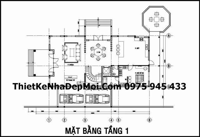 mau biet thu 3 tang kieu phap o Hoc Mon 5321