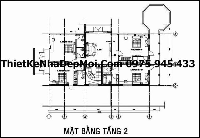 mau biet thu 3 tang kieu phap o Hoc Mon 6731