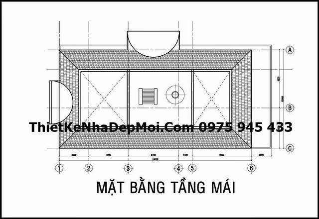 mau biet thu 3 tang kieu phap o Hoc Mon 7854