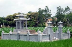 Chọn nơi gần nước làm nơi xây dựng lăng mộ đá