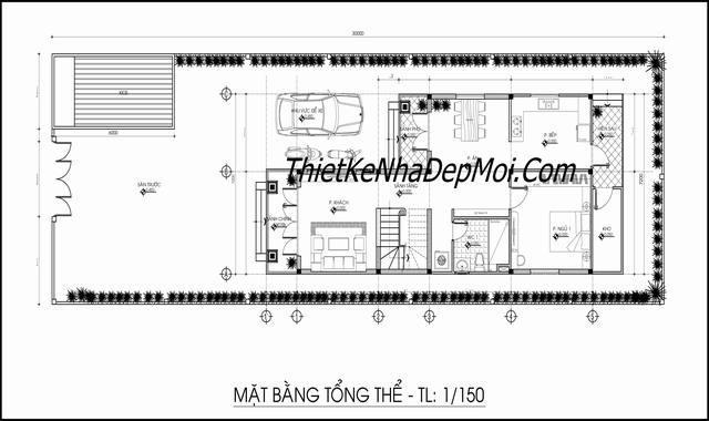 mau nha pho mat tien 8m 2 tang tong the 5555