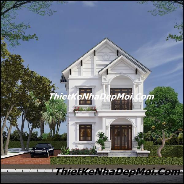 biet thu 2 tang mai thai nong thon 2105