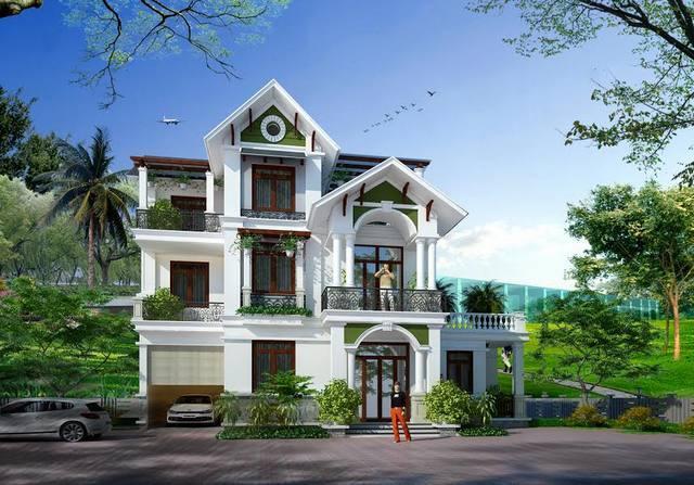 biet thu 3 tang mai thai 0803