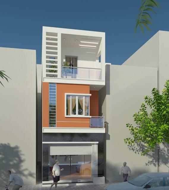 nhà phố 3 tầng 5x15m
