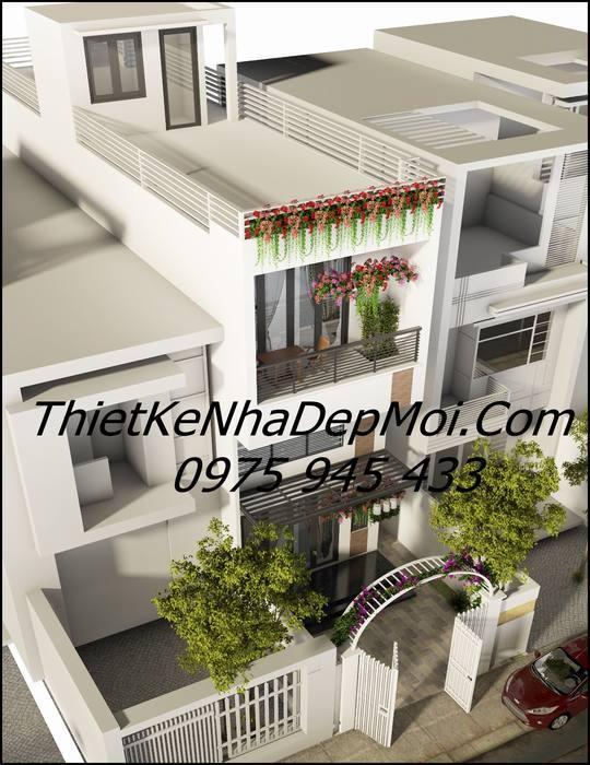 Mẫu thiết kế nhà lệch tầng 4m
