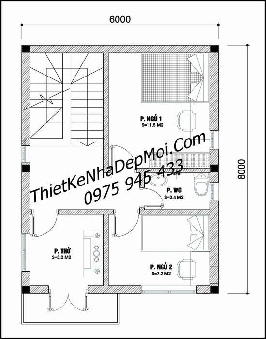 Bản vẽ thiết kế nhà 50m2