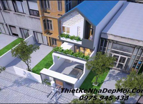 Mẫu nhà phố 1 trệt 1 lầu đơn giản 5x20